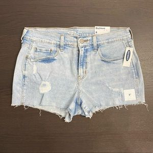 NWT Old Navy 'Boyfriend' Cut Off Jean Shorts 8